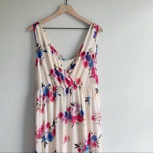 Torrid | Ivory Floral Maxi Dress size 0